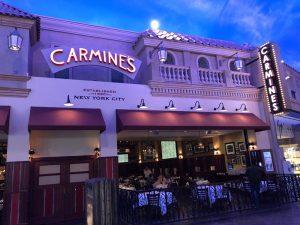 Carmine's no Caesars é uma boa opção para comer em Las Vegas