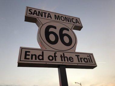 Placa rota 66 Santa Monica