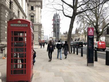 Famosas cabines telefônicas de Londres