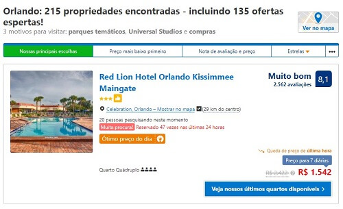 Review de hotel cadastrado no site Booking.com